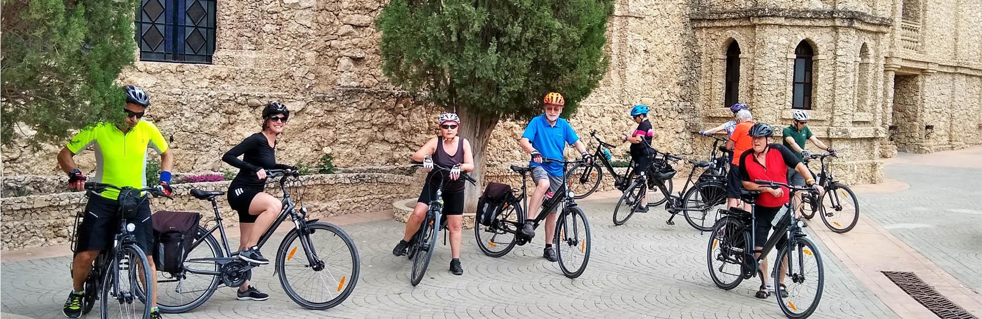 Group of cyclists in Murcia