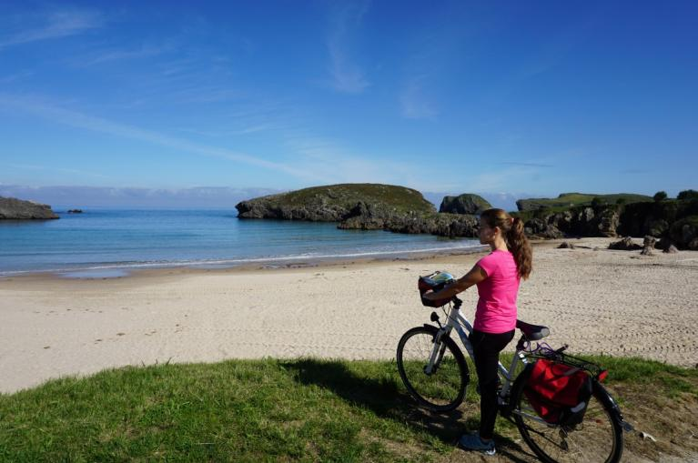 Cycling in Asturias coast