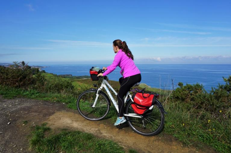 Cycling in the coast of Asturias
