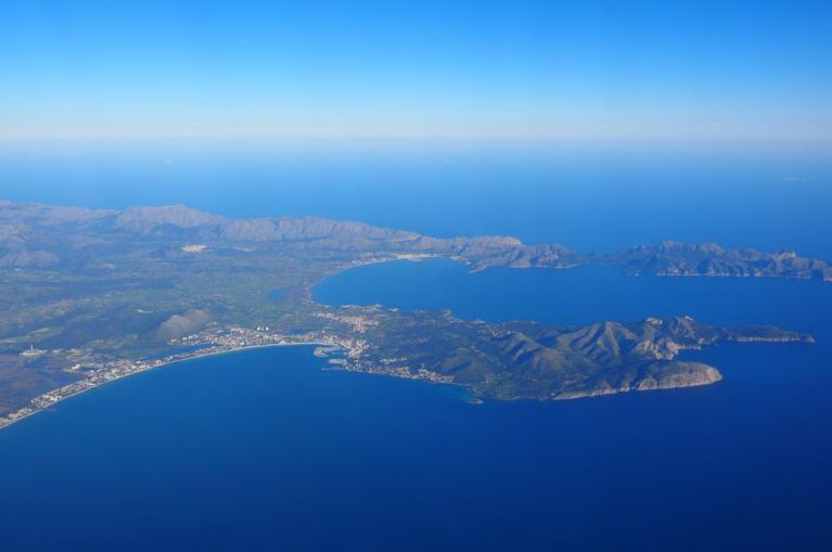 Aerial view of Mallorca