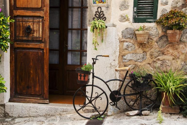 Decorative bicycle in Mallorca