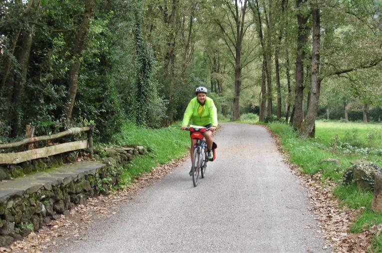 Cycling the Girona-Olot Greenway