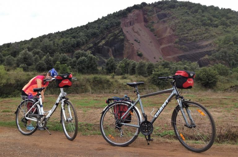 Two bikes in the Garrotxa Natural Park