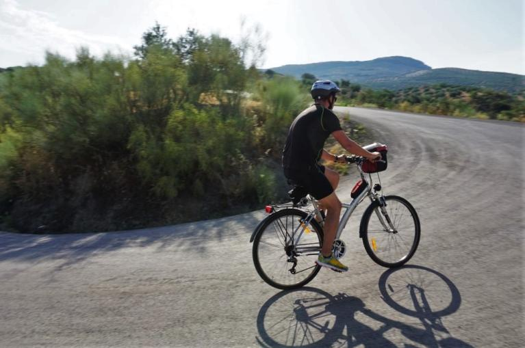 Cyclist in Andalucia road