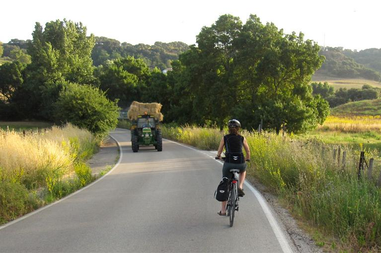 Cycling Grazalema rural roads