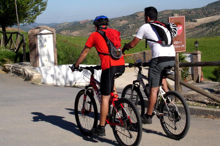 Cyclists in Southern Spain