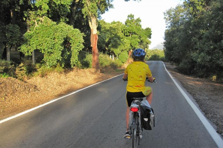 Cycling in Andalusian village